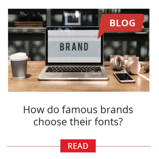 How do famous brands choose their fonts?