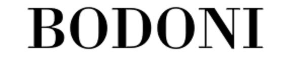 the Bodoni font