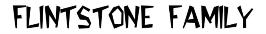Flintstone Family font