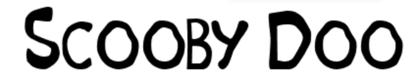 Scooby Doo font