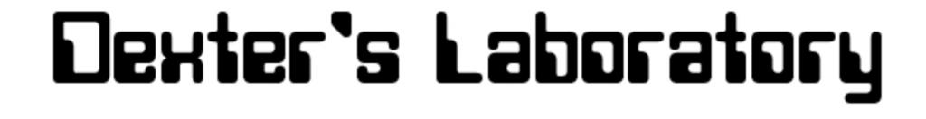 Dexter's Laboratory font