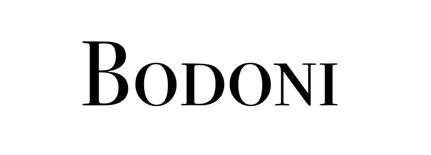 serifs in bodoni