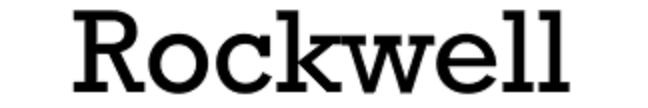 serifs in rockwell