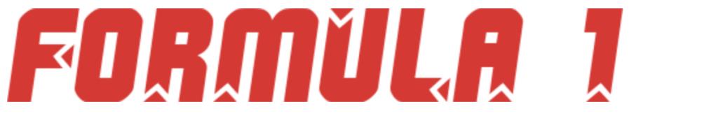 Race car fonts