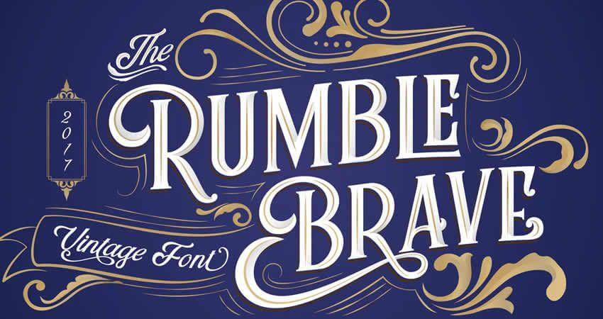 Rumble Brave Vintage Fonts - free to use- Which Were The Very Best 20 Fonts In 2019