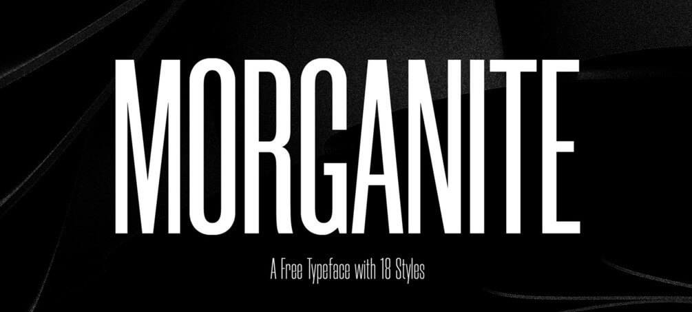 Morganite - free font- Which Were The Very Best 20 Fonts In 2019