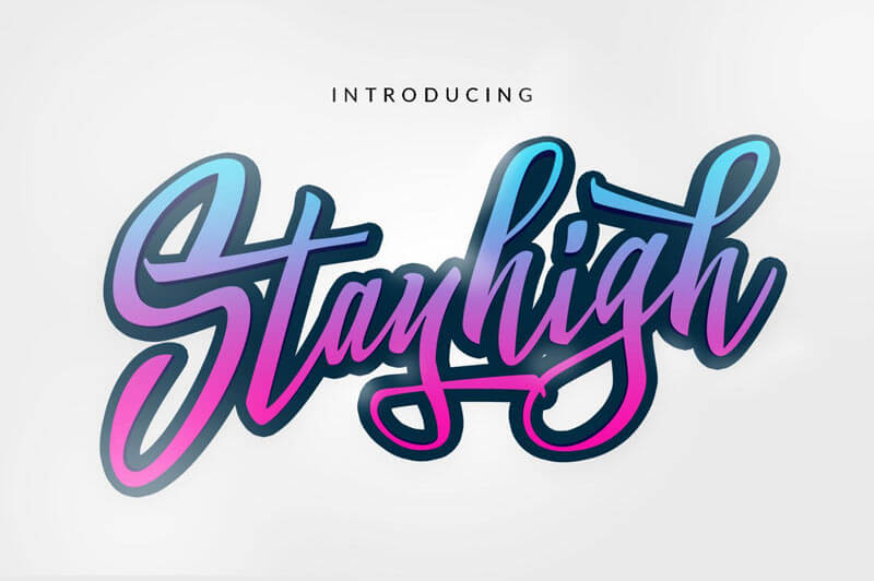 Stay High - free font- Which Were The Very Best 20 Fonts In 2019