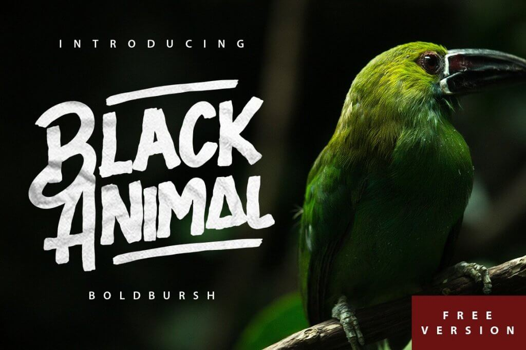 Black Animal - free font- popular fonts from 2019