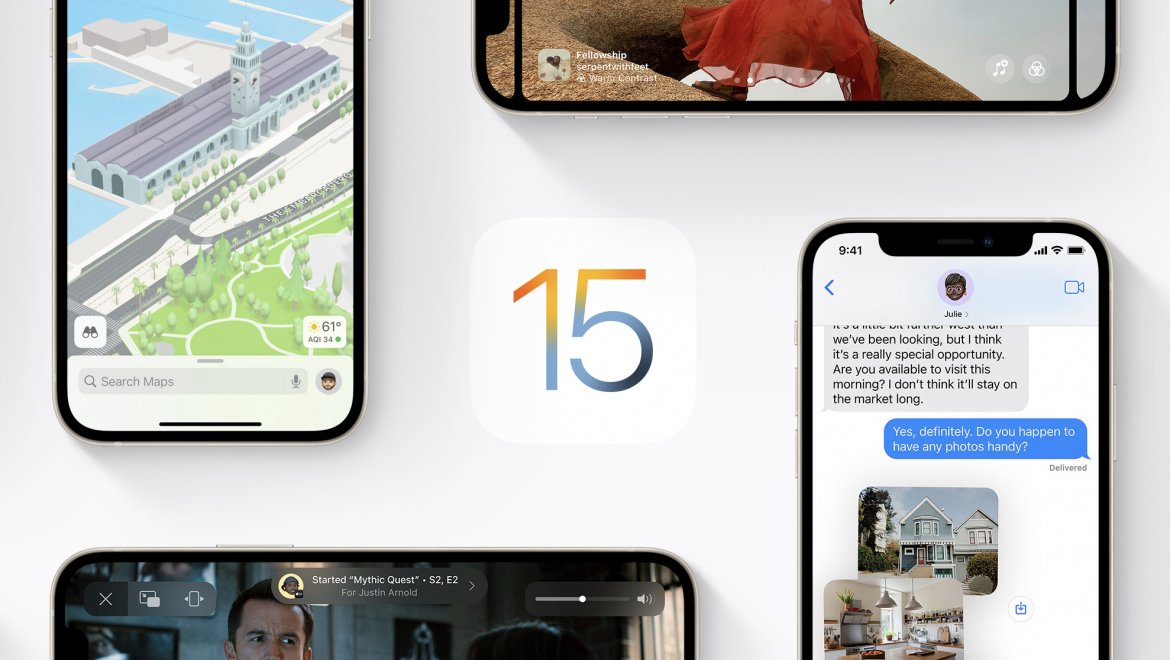 The new iOS15 is here