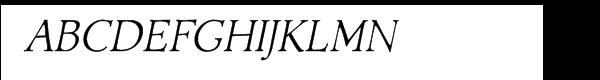 Acadami Italic Font UPPERCASE