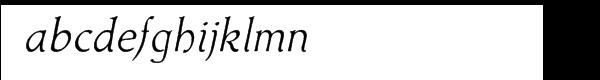 Acadami Italic Font LOWERCASE