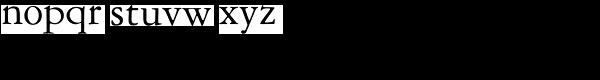 American Garamond Font LOWERCASE