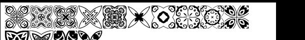 Ann's Bijou Quatrefoil  What Font is