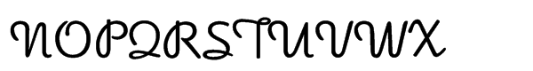 Apricot Regular Font UPPERCASE