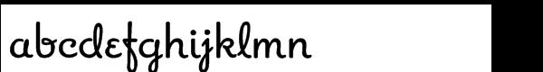 Apricot Regular Font LOWERCASE
