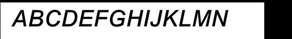 Arial® Medium Italic  What Font is