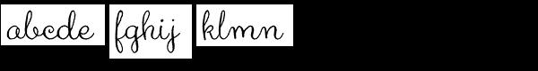 Aya Script Ribbons Font LOWERCASE