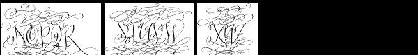 Barocca Monograms-10000 Font UPPERCASE
