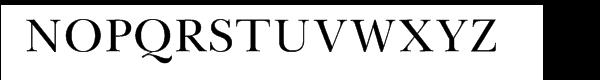 Baskerville Cyrillic Upright Font UPPERCASE