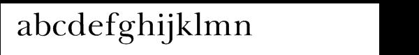 Baskerville Cyrillic Upright Font LOWERCASE