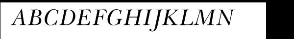 Baskerville LT™ Greek Inclined  What Font is