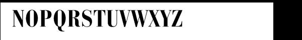 Bauer Bodoni® Bold Condensed Font UPPERCASE