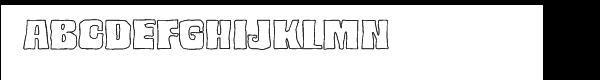 Bedrock Black Outline  What Font is