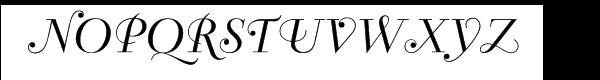 Bellevue Font UPPERCASE