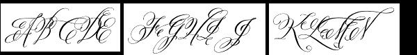 Belluccia Contextual Font UPPERCASE