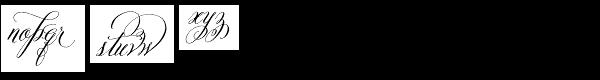 Belluccia Contextual Font LOWERCASE