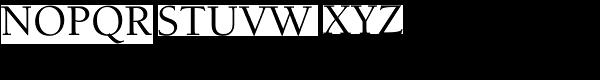 Berkeley Std-Medium Font UPPERCASE