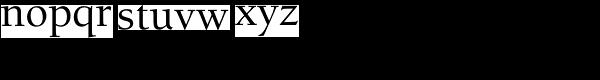 Berkeley Std-Medium Font LOWERCASE