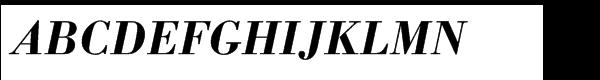 Berthold Bodoni® Antiqua Std Medium Italic  What Font is