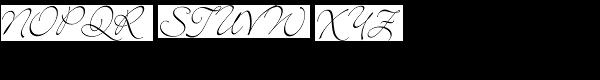 Bickley Script LET Font UPPERCASE