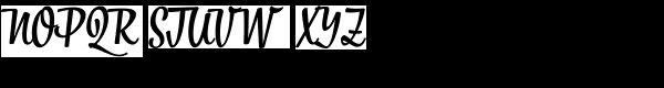 Bistro Script Font UPPERCASE