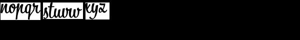 Bistro Script Font LOWERCASE
