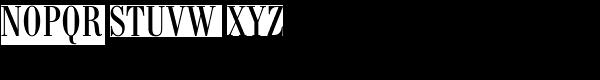 Bodoni Antiqua Cond Regular Font UPPERCASE