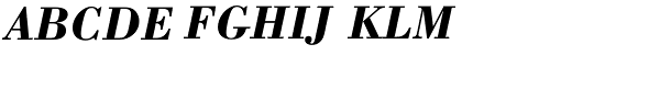 Bodoni Bold Italic  What Font is