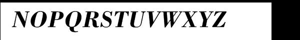 Bodoni Bold Italic Font UPPERCASE