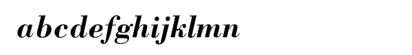 Bodoni Bold Italic Font LOWERCASE