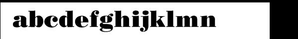Bodoni Poster Cyrillic Font LOWERCASE