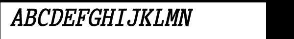 Briem Mono Condensed Bold Oblique  What Font is