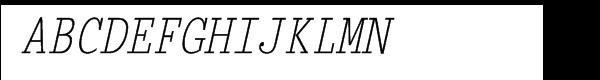 Briem Mono Condensed Oblique  What Font is