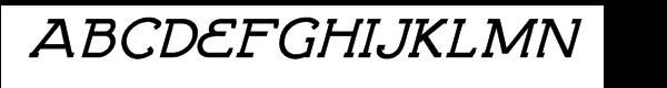 Brosse Bold Italic Font UPPERCASE