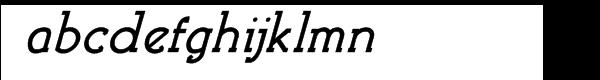 Brosse Bold Italic Font LOWERCASE