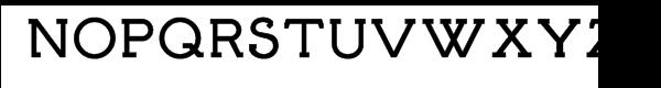Brosse Bold Font UPPERCASE