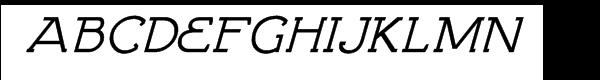 Brosse Italic Font UPPERCASE