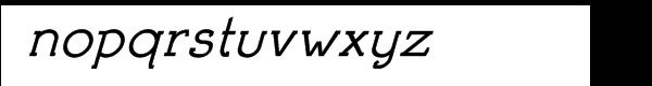 Brosse Italic Font LOWERCASE