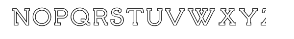 Brosse Outline Font UPPERCASE
