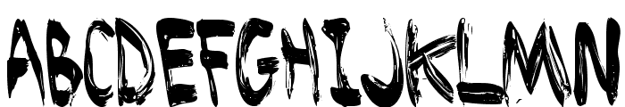 Brushed Font LOWERCASE